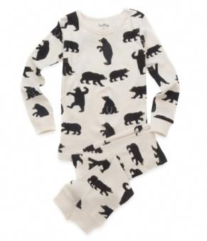 print bears pyjama