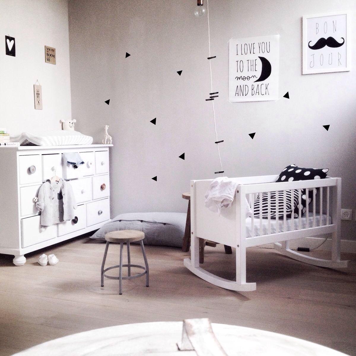 20 idées de chambres en noir et blanc pour bébé